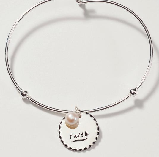 $15 faith charm bracelet B1325 Retail $55 SALE $38
