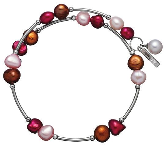 B2968 Retail $42 SALE $32 swirl of pearls bracelet