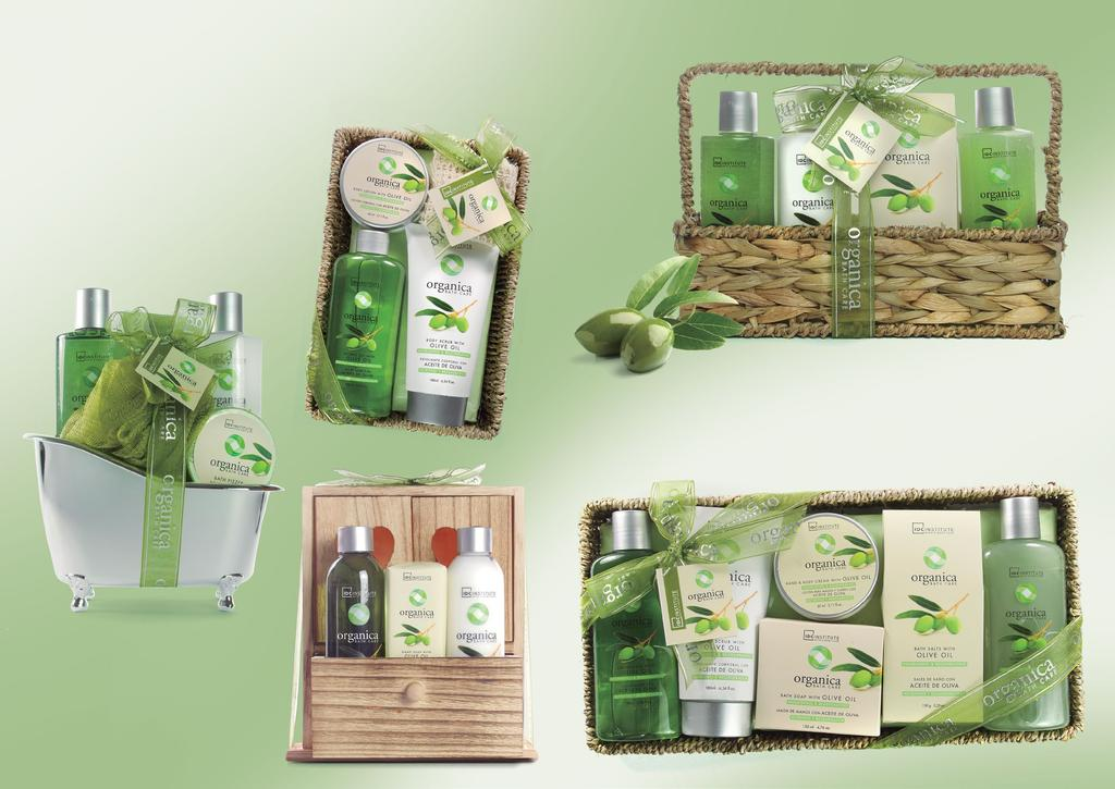 ORGA- NICA 80600 188ml bubble bath + 60ml body scrub + 180ml body lotion + sisal towel 26 x 15 x 9,8 cm EAN 8436025306001 ORGANICA A selection of powerful naturals that care for your skin both now