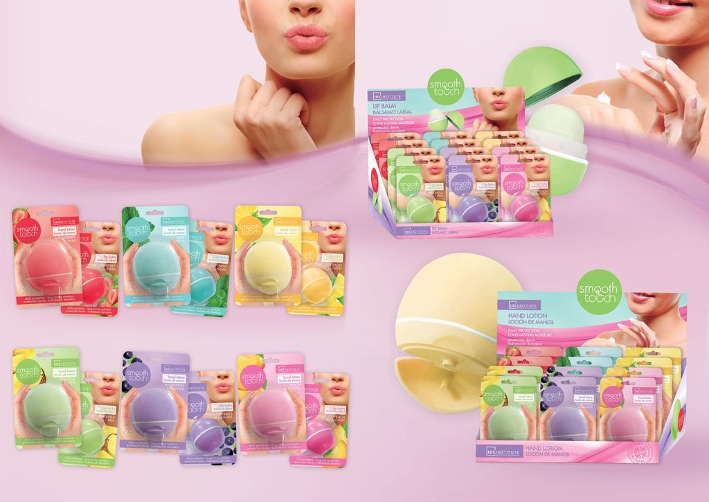 SMOOTH TOUCH SMOOTH TOUCH High quality lip balms and hand lotions in pocket size to always take with you.