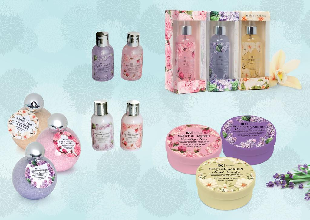 SCENTED GARDEN SCENTED GARDEN Natural essences that will leave your skin refreshed and your body full of energy.