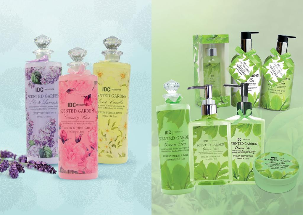 SCENTED GARDEN Green Tea Limited Edition 40430 green tea 150ml body mist EAN 8436025344300 40198 green tea 500ml hand & body lotion EAN 8436025341989 SCENTED GARDEN 40197 green tea 500ml hand wash