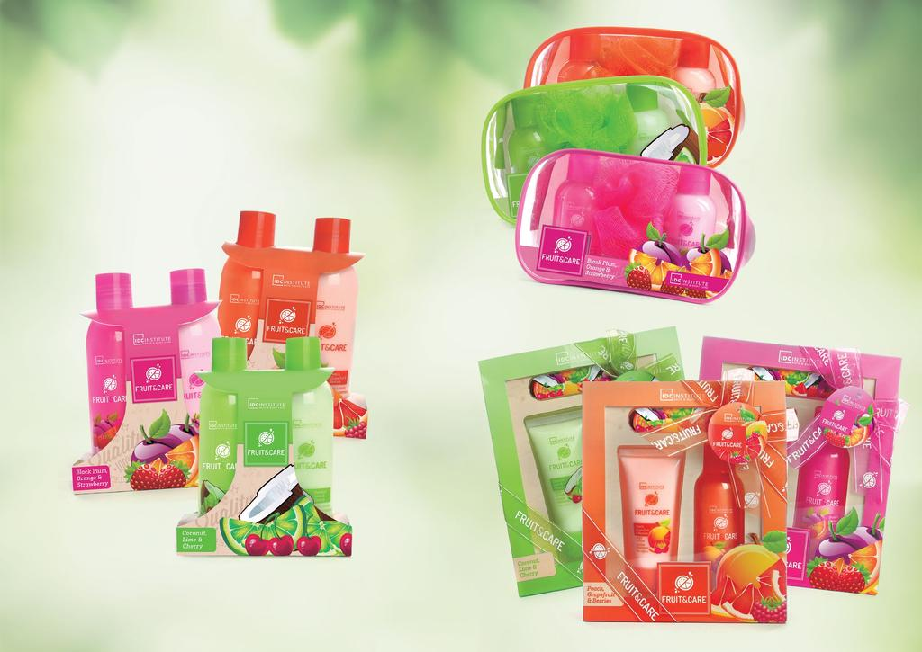 FRUIT & CARE The goodness of fruits maintains the skin refreshed, clean and healthy-looking.