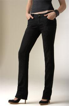 Hip Hugger Pants Low slung pants of any style starting below the normal waistline, resting on