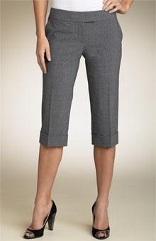 Pedal Pusher Pants Straight-cut, calf length