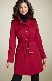 Trench Coat Military style coat with epaulets and a double yoke at the shoulders.
