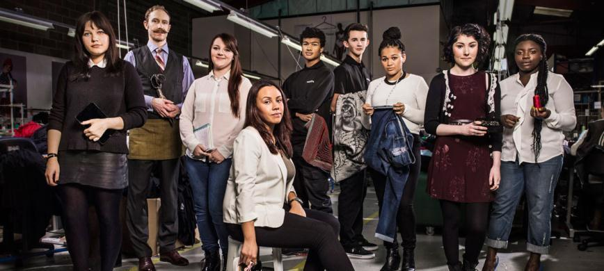 Partnership with Creative Skillset Fashion apprenticeships lead the Made-in-Britain brand One of the partner agencies that has supported the apprenticeships and education