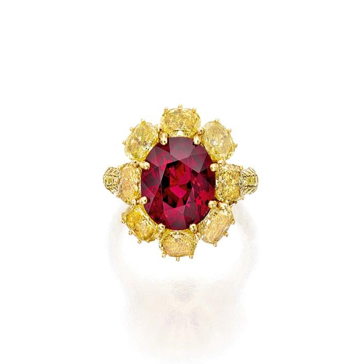 Winter Auction Highlights An 8.11 Red Burma ruby sold for $2.775 million or $242,000 per carat. The stone was graded by the AGL as Burma no heat.