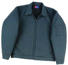 Work Wear Slash Pocket Ike 1820-053 Full-zip front, lined collar with sewn-in