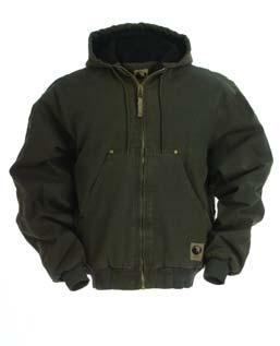 S-2XL $54.99 3XL-4XL $57.99 5XL-6XL $60.99 Berne Washed Hooded Jacket 1824-096 12 oz. 100% washed cotton duck.