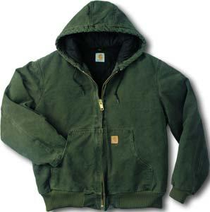 Duck Wear Carhartt Sandstone Duck Active Hooded Jacket 1824-462 12 oz.
