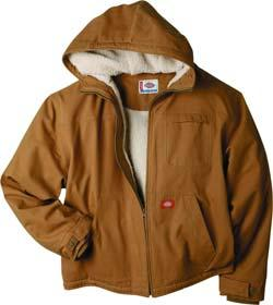 1800-361 This jacket is made from 8.5 oz. sanded duck and features a warm sherpa lining.
