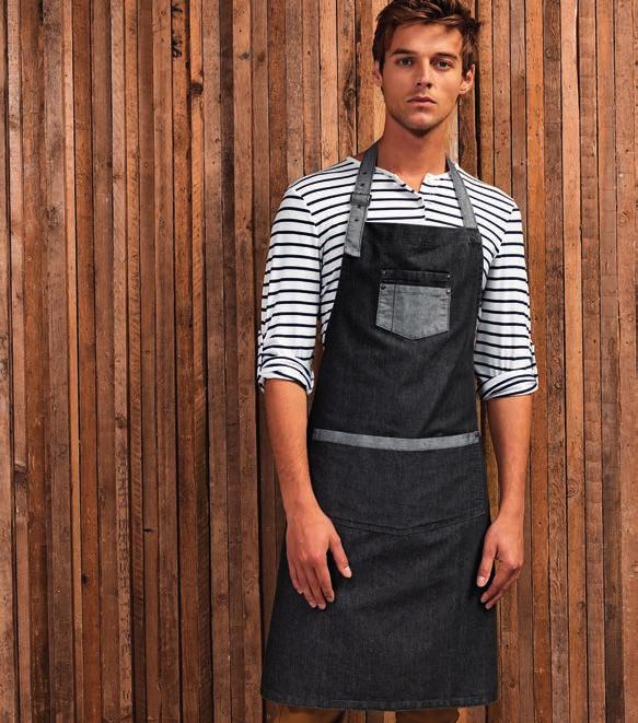 456 POCKET BIB APRONS PR177 PR127 PR177 Premier Wrap Around Tunic Apron 100% polyester plain weave. Over the head style. Front to back wrap around. V neck and side vents.