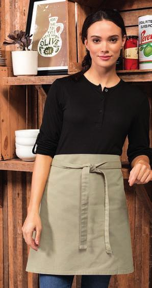 Weight: 245 gsm DE123 Dennys Bar Apron with Pocket Two front pockets, inner pocket has tear