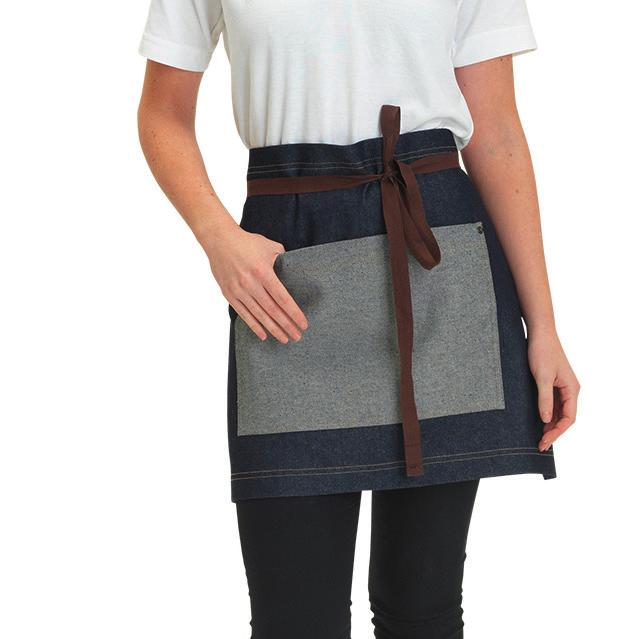 Weight: 245 gsm K513 Bargear Bar Apron 100% cotton twill. Double front pocket - one open and one with zip.