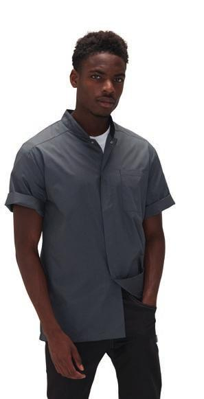 468 PR649 CHEFSWEAR LE006 [DF120M] PR649 Premier Coolchecker Chef s T-Shirt Easy care, moisture wicking fabric. Mesh back panel for airflow. Underarm side vent holes.