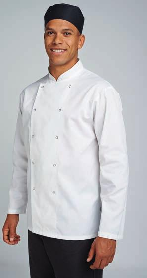 Weight: 135 gsm Size: XS S M L Chest (to fit): 30 34 38 42 Size: XL XXL 3XL Chest (to fit): 46 50 52 LE006 Le Chef Lightweight Shirt Lightweight. Fitted style.