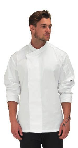 PR657 Premier Long Sleeve Chef s Jacket Easy care fabric. 10 button wrap over fastening. High quality, long life resin buttons.