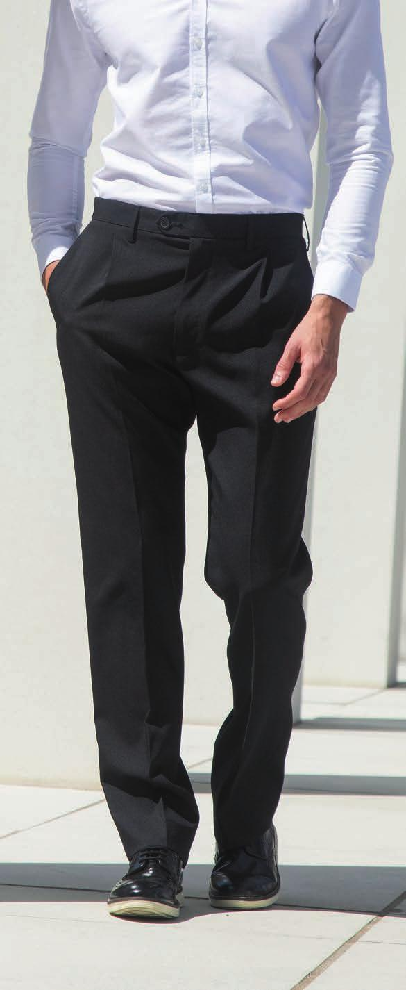 P476 H603 Henbury Single Pleat Polyester Trousers 100% polyester panama twill. Single pleat with straight leg.