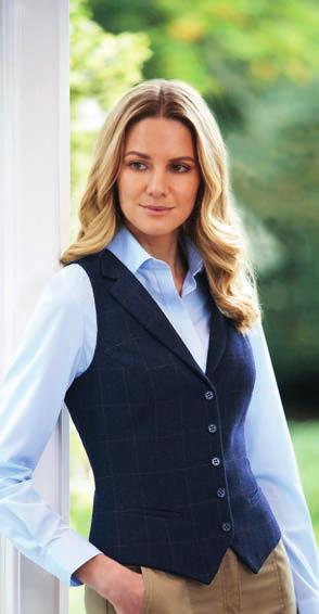 women s tweed waistcoats Ideal for hotels, front of house, hospitality, retail environments BK521 P477