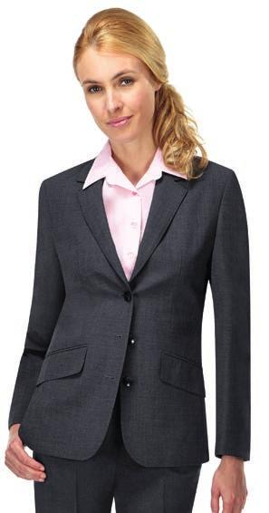 CP61 SUITS & BUSINESS WEAR 485 CP10 CP10 Skopes Juliette Jacket 60% wool/38% polyester/2% Lycra. Bi-stretch fabric. Feature lining. Three button single breasted. Stitched edge lapels and pockets.