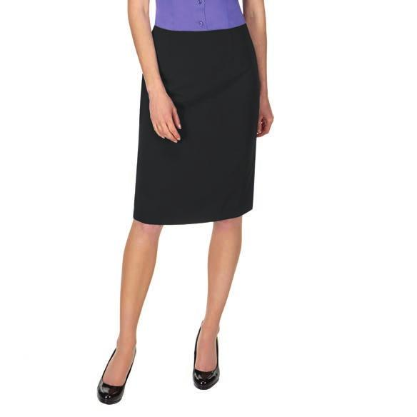 Low waist. Twin button fastening over zip fly. Two side pockets. Flat front. Machine washable. Weight: 390 gsm CP50 Skopes Sylvie Skirt 100% double layer polyester.