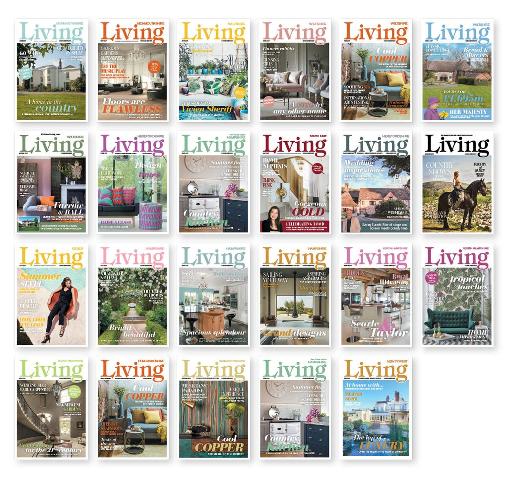 LIVING PORTFOLIO 24+ MAGAZINES ACROSS THE UK 24+ editions with 240,000 copies reaching 720,000 people*