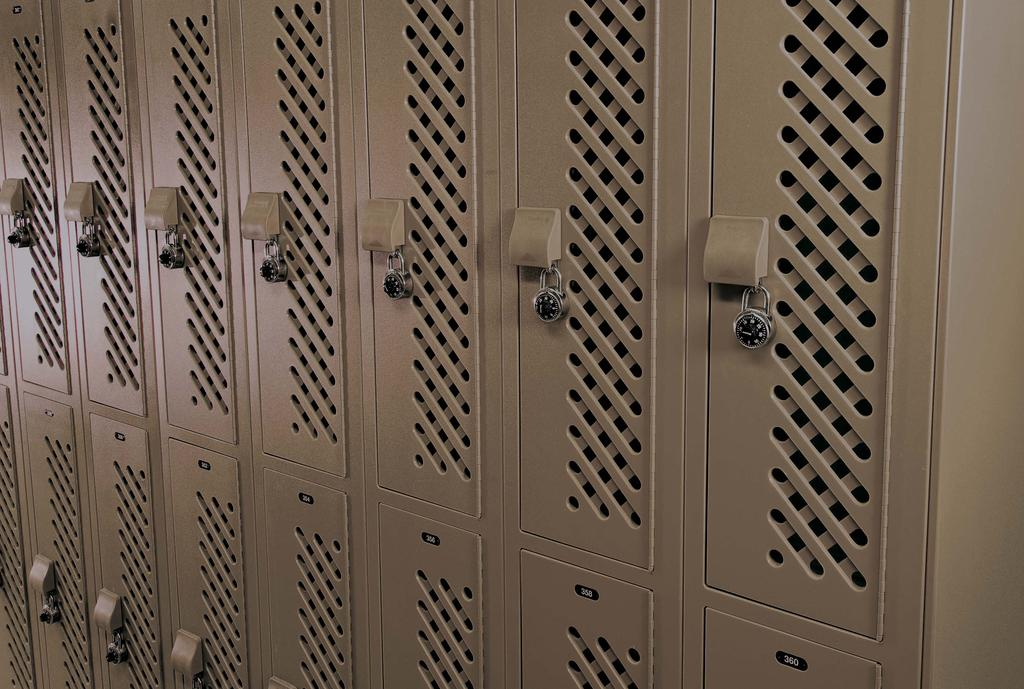 Metal lockers don t stand a chance. Quick installation and low maintenance costs add up to a 50% life cycle cost savings with Lenox Lockers.