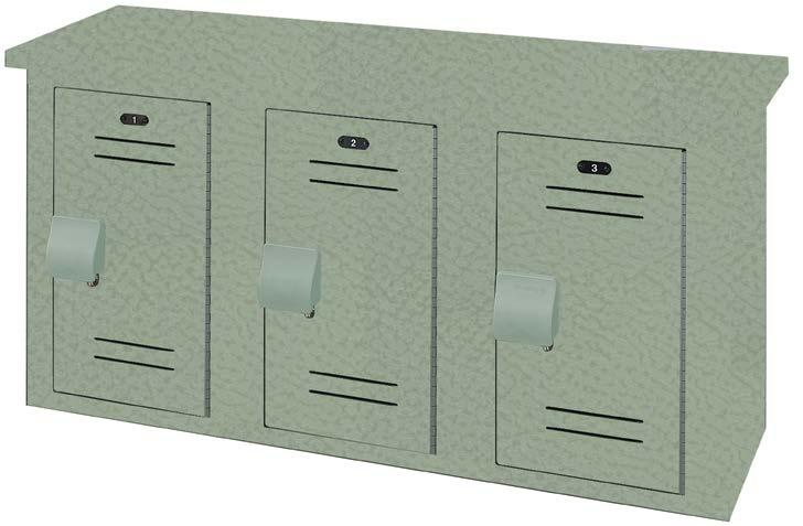 Lenox Gear Lockers with custom logo option installed in the United States Naval Academy