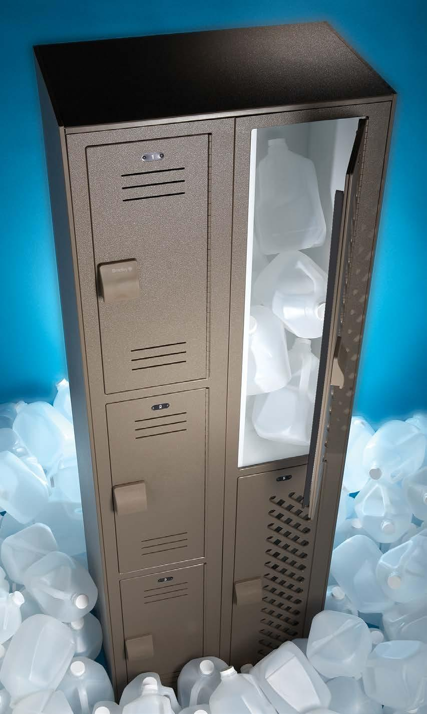HDPE Solid Plastic Unlike metal, Lenox Lockers are constructed from