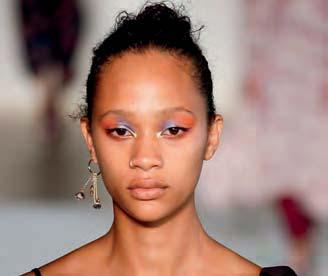 We re talking two beautiful extremes: a minimalist finish (ultra-fresh-looking eyes) as seen at Stella McCartney and Givenchy, and contrasting colour