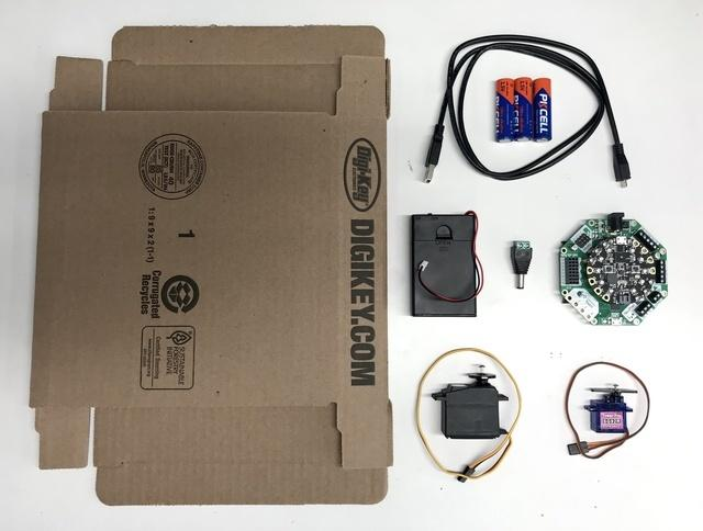 Overview Simply Stumbling Here is a fun robot you can build with a cardboard box. Stumble-bot moves using servo controlled legs controlled by the Adafruit Crickit (https://adafru.