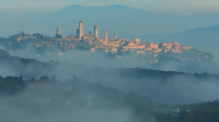 Fig; 4. Digital content on the Valdelsa Ecomuseum showing the famous skyline of San Gimignano.