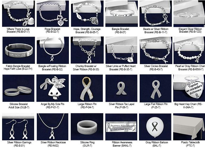 Gray Ribbon Fundraising Kits FUNDRAISING KITS: If you are trying to raise a bunch of money, then consider one of our Fundraising Kits. All our great items in one easy to sell kit.
