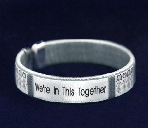 Comes in optional gift box. (B-02-7) Size: 8 1/2 in. Qty: 18/pkg. Hope Strength Courage Bracelet.