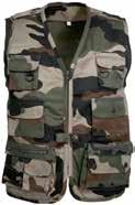 Child s rangers camouflage vest Description: 65% polyester, 35% cotton, 240 g/m², 100% polyester padded lining, water-repellent treated 5 outside pockets, 1 inside pocket.