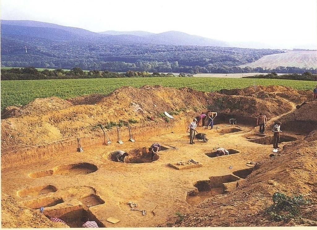 Fig. 3 Excavation in Nižná Myšľa Approximately around 2000 BC, there for 4000 years ago, became metallurgy of colored metals (copper, tin, gold) new craft that determined next evolution or progress