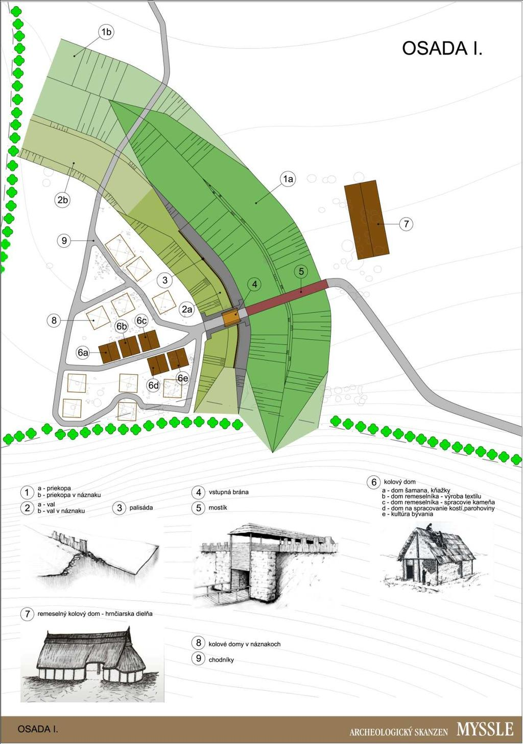 Fig. 7 Plan of village