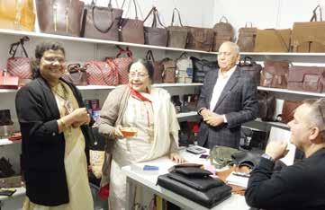 After inauguration of the India Leather Days, Smt Pratibha Parkar, Consul General visited the Stalls of all the Member Participants and provided valuable inputs on the scope for enhancing