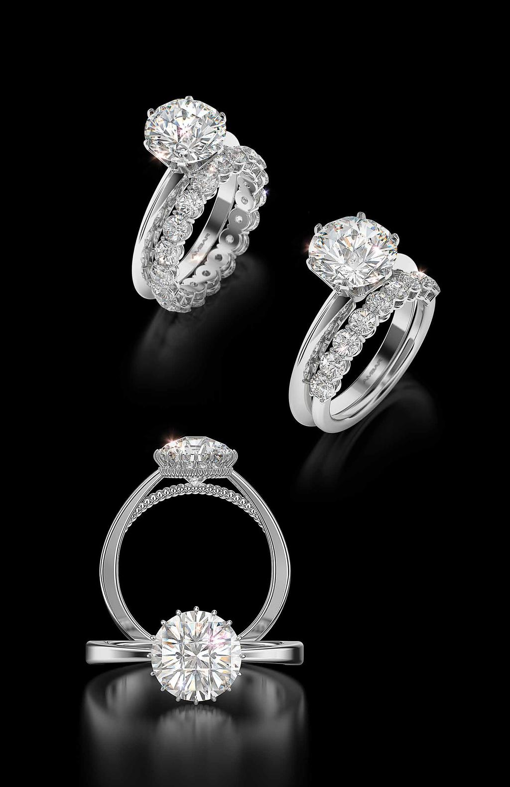Divine Cut diamond bands are the perfect complement to a