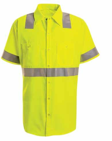hi-visibility Work shirt: class 2 level 2 SS24 Real protection for real exposure.