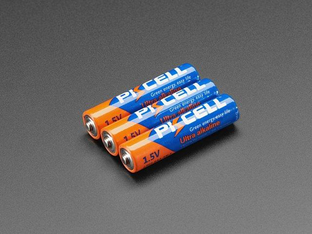Alkaline AAA batteries - 3 pack $1.