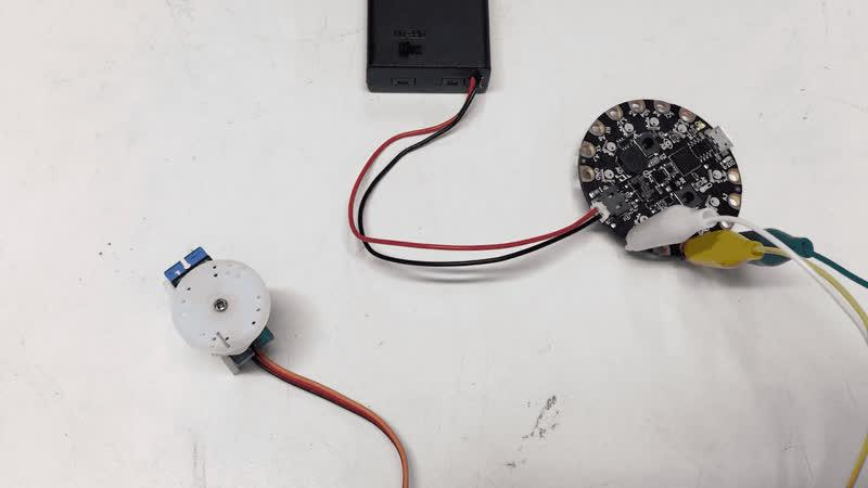 Servo Motor Test The motor that will push the ping pong balls into the path of the spinning wheel is a continuous rotation servo (https://adafru.