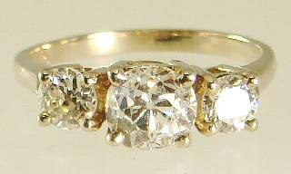 diamond cluster ring set with seven