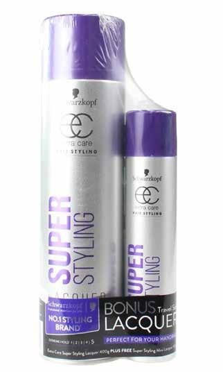85 w/s Schwarzkopf Super Styling Extreme Hold Lacquer 2 pack