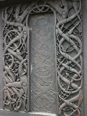 VIKING/SCANDINAVIA Wood portal of the stave church at Urnes, Norway 1050-1070 Scandinavia had become Christian by the 11th century Viking artistic