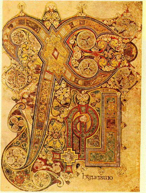 Hiberno Saxon Monasteries Book of Kells Iona Scotland 8th or 9th century Larger in scale, richness,
