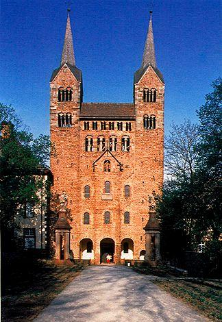 Carolingian Period Westwork of the abbey church, Corvey Germany, 873-885 Carolinian basilica had towers incorporated in the fabric of the west