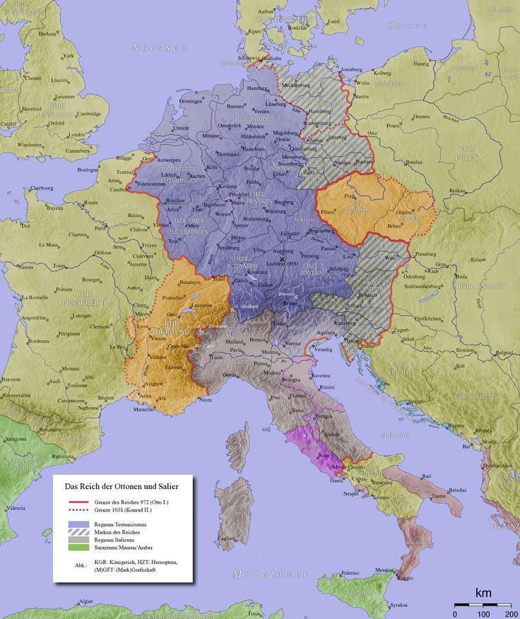 Ottonian Empire Refering to Otto the Great (OTTO I) a german king of the Holy Roman Empire.