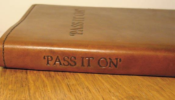 Pass It On Dust Cover I just purchased a new book and noticed that the font on the dust jacket was very close to a letterpress lead type that I have.